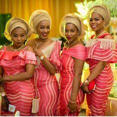 Fab Ladies #asoebispecial #asoebi #speciallovers #wedding #dress Asooke by @aso_ebi_couture