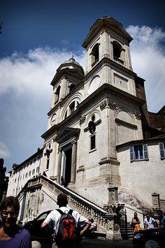 Trinità dei Monti at the top of the Spanish Steps  (Scalinata della Trinità dei Monti)