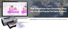 Dog grooming business marketing & advertising promotional kit