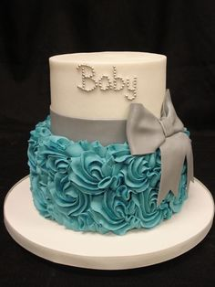 Ideas for cupcakes baby shower boy fondant elephant cakes Torta Baby Shower, Baby Shower Cakes For Boys, Baby Boy Cakes, Girl Cakes, Baby Boy Shower, Cupcakes, Cupcake Cakes, Gateau Baby Shower Garcon, Bolo Floral
