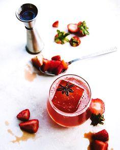 Soaked Port Strawberry Spritzes via @feedfeed on https://thefeedfeed.com/hollyandflora/soaked-port-strawberry-spritzes