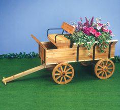 Planter Plans | Planter Woodworking Plans - Hay Wagon Planter Wood Plan
