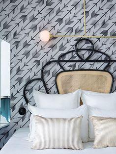 Hotel Panache * Interiors * The Inner Interiorista Hotel Panache Paris, Home Bedroom, Bedroom Decor, Bedroom Wall, Master Bedroom, Bedrooms, Art Nouveau, Art Deco, Beach Bedding Sets