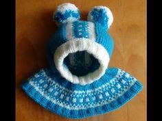 Шапочка-шлем с жаккардовым узором. Cap-helmet with jacquard knitting pattern - YouTube