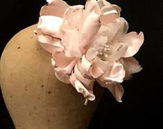 Large baby pink silk flower fascinator hat for ascot derby with kentucky derby hats i make luscious handmade flowers and the headbands fascinators and hats mightylinksfo