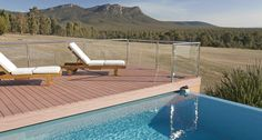 Amazing poolside view at Meringa Springs near Halls Gap, VIC. http://www.beautifulaccommodation.com/properties/meringa-springs
