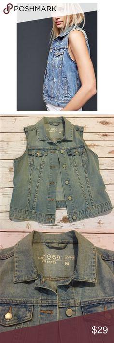 Spotted while shopping on Poshmark: Gap Light Wash Denim Vest! #poshmark #fashion #shopping #style #GAP #Jackets & Blazers