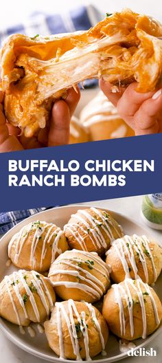 Buffalo Chicken Fans Will Love These Cheesy Biscuit BombsDelish # Food and Drink healthy buffalo chicken Buffalo Chicken Fans Will Love These Cheesy Biscuit Bombs Gourmet Recipes, Appetizer Recipes, Cooking Recipes, Beef Recipes, Easy Recipes, Dinner Recipes, Healthy Recipes, Chicken Appetizers, Party Appetizers