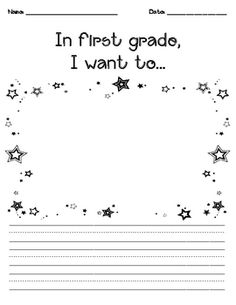In First Grade I Want to... (writing)