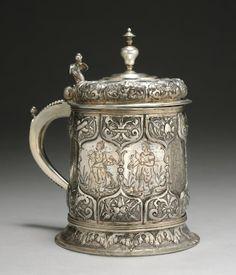 "Tankard  Germany, 16th or 17th century    Medium: silver www.LiquorList.com ""The Marketplace for Adults with Taste!"" @LiquorListcom   #LiquorList"