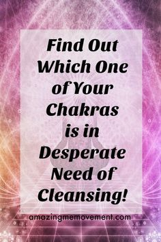#chakra cleansing #chakras #mentalhealth #wellness #quiz Do you know which one of your Chakras needs to be cleansed and strengthened? Take this quiz to find out now. via @Iva Ursano|Amazing Me Movement #KnowingYourChakras