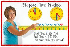 The Magnetic Elapsed Time Set from Learning Resources is a great way to help students understand the passing of time!
