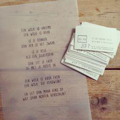 JIP. korte teksten en gedichten. Inspiratie facebook.com/gewoonjip #jip #gewoonjip
