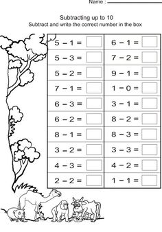 Simple Subtraction Worksheets for Kindergarten - 25 Simple Subtraction Worksheets for Kindergarten , 029 Kindergarten Math Addition Facts and Subtractions Year 1 Maths Worksheets, First Grade Worksheets, 1st Grade Math, 1st Grade Activities, Grade Spelling, Grade 2, Subtraction Kindergarten, Preschool Math, Math Math