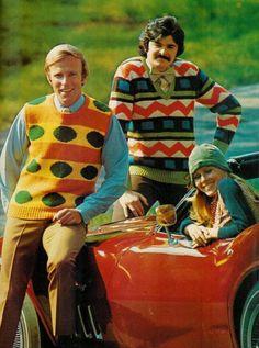 superseventies:  1970s mens knitwear.