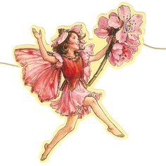 Almond Blossom Flower Fairy Scrap Garland ~ England Almond Flower, Almond Blossom, Cherry Blossom, Fantasy Illustration, Illustration Artists, Illustrations, Vintage Fairies, Vintage Flowers, Fairy Tea Parties
