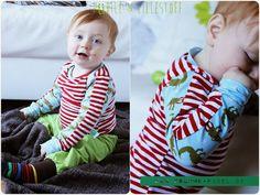 Shirt: Schnitt Krumme-Nadel2012 | ShirtMiLO Bio Elefanten | Ringel Jersey : MYO Stoffe PÜdile | Lillestoff Ringel  : MYO Stoffe.