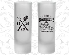 I Do BBQ Wedding, Frosted Shooter Glasses, I Do Barbecue Wedding, Wedding BBQ, BBQ Chicken (48)