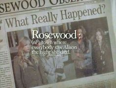Image via We Heart It #rosewood #pll #alisondilaurentis