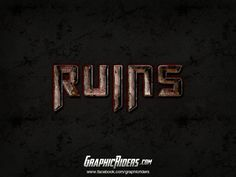 GraphicRiders | Action style – Ruins (free photoshop layer style, text effects, free psd file) #graphicriders