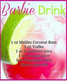 Barbie drink for bridal shower!!