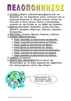 Μελέτη Δ΄ Επανάληψη 1ης ενότητας: ΄΄ Ελλάδα - η χώρα μας ΄΄ Teacher, Education, Words, School, Geo, City, Ideas, Professor, Teachers
