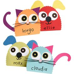 puppies and kittens place card kit for paper source