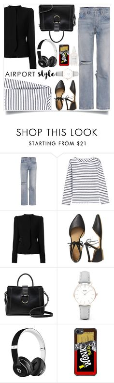 """airport style"" by bbywolfy on Polyvore featuring RE/DONE, rag & bone, Haider Ackermann, Gap, Radley, CLUSE, Beats by Dr. Dre, Herbivore and airportstyle"