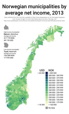 """thelanguages: """"Norwegian municipalities by average net income, 2013. """""""