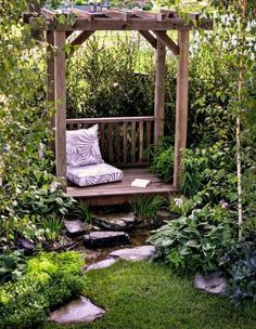 The pergola kits are the easiest and quickest way to build a garden pergola. There are lots of do it yourself pergola kits available to you so that anyone could easily put them together to construct a new structure at their backyard. Rustic Pergola, Deck With Pergola, Pergola Shade, Pergola Patio, Pergola Plans, Backyard Landscaping, Pergola Kits, Pergola Ideas, Modern Pergola
