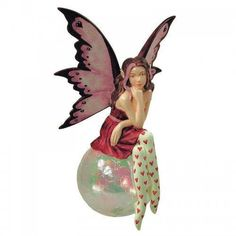 Amy Brown fairy ornament Lover of Mine measures 5 inches tall, fairy wears red dress, white stockings with red heart designs and sits on bubble. Amy Brown Fairies, Valentine Day Gifts, Valentines, Little Red Dress, Fairy Dress, Fairy Art, Fantasy Art, Christmas Ornaments, Holiday Decor