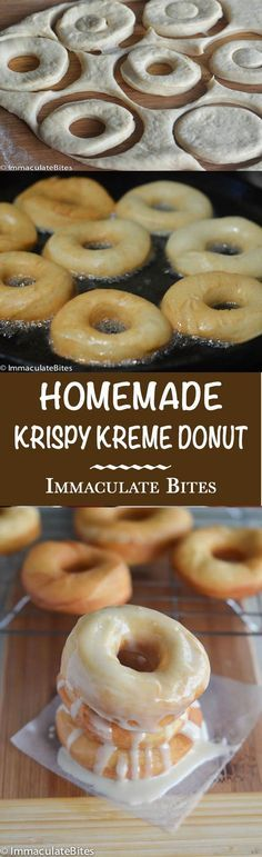Krispy Kreme Doughnut Recipe(Copy Cat) — Light and fluffy donuts topped with a rich glaze on top that will melt in your mouth. Tastes as good as the store-bought Krispy Kremes! Raise your hand if you have ever waited in line for a Krispy kreme  doughnut. Now, raise two hands if you have …