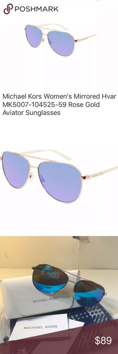 b27491e91a96 Michael Kors Rose Gold Aviator Sunglasses New without tags Size 59mm 14mm  135mm Michael Kors MK