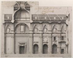 Corte ynterior de la nueba yglesia de S. Justo y pastor. Ardemans, Teodoro 1664-1726 — Dibujo — 1698