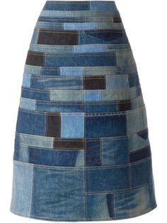 Junya Watanabe Comme Des Garçons - Patchwork Denim Skirt