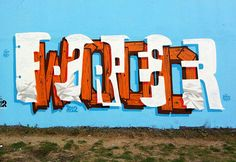 Amazing layered text paintings by PREF.