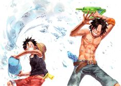 Luffy Brother Ace | Tags: Anime, ONE PIECE, Monkey D. Luffy, Portgas D. Ace, Pixiv