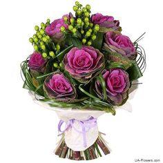 UFL is a great choice of bouquets. Reliable delivery of flowers in Kiev, Ukraine and all over the world. Church Flowers, Unusual Plants, The Masterpiece, Bright Purple, Flower Bouquet Wedding, Floral Arrangements, Greenery, Tiffany, Floral Wreath