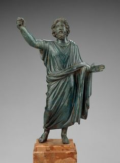 Bronze statuette of a paternal deity, possibly Jupiter. Roman Provincial. Imperial Period. 2nd century A.D. | The Museum of Fine Arts, Boston