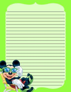 Mickey Stationery .... free to use & free to share for personal use only. <3