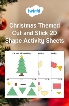 Use these activity sheets for children to match shapes by building Christmas themed pictures. Preschool Christmas, Christmas Activities, Christmas Themes, 2d Shapes Activities, Eyfs Activities, Activity Sheets For Kids, Christmas Worksheets, Making Ideas, Kindergarten Shapes