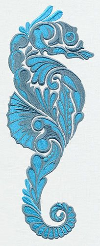 Salt Water - Seahorse design (UT6662) from UrbanThreads.com
