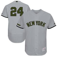 Yankees #24 Gary Sanchez Grey Flexbase Authentic Collection Memorial Day Stitched MLB Jersey
