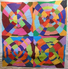 Bev has been quilting her circle/bullseye quilt from a Nancy Crow class.
