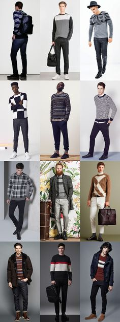 Men's 2015 Autumn/Winter Fashion Trend Preview: Graphic/Printed Knitwear Outfit Inspiration Lookbook