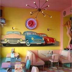 50s diner. Love that light !