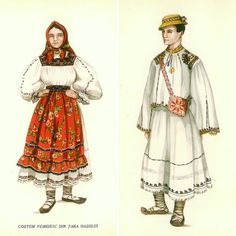 Romanian opancie: shoes Hungarian Embroidery, Folk Embroidery, Embroidery Patterns, Folk Costume, Costumes, Fashion Model Drawing, 1 Decembrie, Embroidery Techniques, Mannequins