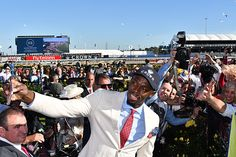 Usain Bolt presents Oaks trophy at Flemington : Australia Horse Breeding and Racing news updated daily, www.thoroughbrednews.com.au