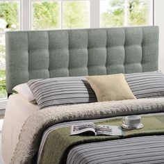 Modway Lily Upholstered Headboard & Reviews   Wayfair