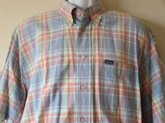 Faconnable Shirt Blue Button Down Mens Long Sleeve Designed in France - Size XL